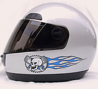 Skull helmet graphics