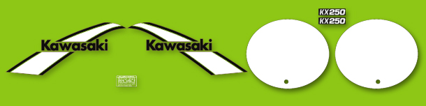 1975 Kawasaki KX250 decal set