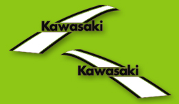 1975 Kawasaki KX250 fuel tank decals