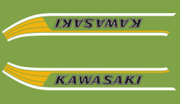 1978 Kawasaki KM90 fuel tank decals