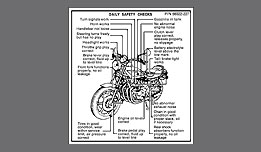 1978-79 Kawasaki KZ1000 LTD daily safety checks