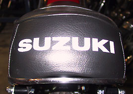 1968 Suzuki TC250 seat with wrong chrome