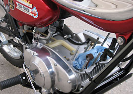 1968 Suzuki TC250 engine