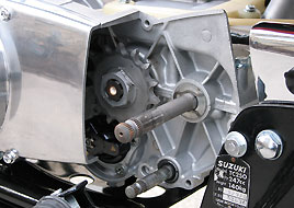 1968 Suzuki TC25 shafts